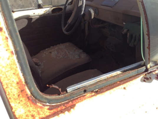 coche abandonado2 interior