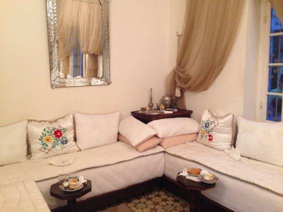 Salón típico marroquí